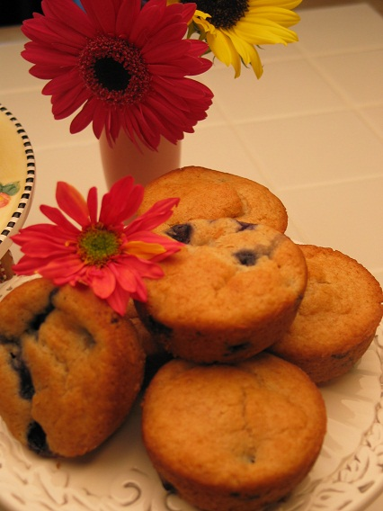 Blueberry Ice Cream Muffins