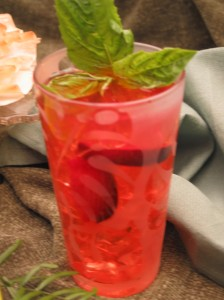 Plum Basil Lemonade
