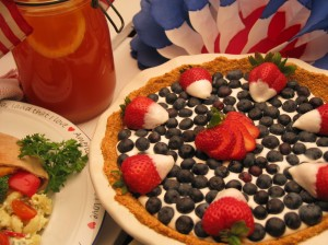Fourth of July Cheesecake Pie
